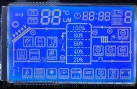 蓝底LCD液晶屏,热泵控制板LCD,LCD液晶屏