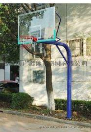 廣鑫體器直銷165籃球架、預埋式固定籃球架、地埋圓管籃球架