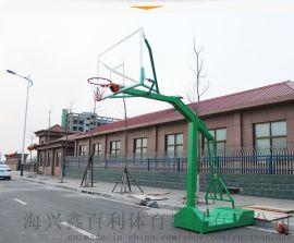 移动凹箱子钢化玻璃SMC篮球架