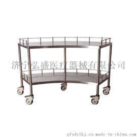 不锈钢扇形器械台车B11弘盛手术室扇形器械台车
