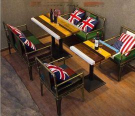 凯隆工业风桌椅 主题餐厅桌椅沙发 **吧休闲桌椅吧台吧椅欧美新款定做