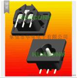 HUACONN/东莞华琴 AC电源插座 梅花插座 ac输入插座 ac梅花插座
