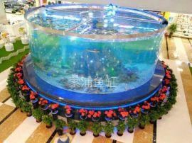 鱼缸生产厂家定制大型圆形亚克力水族箱