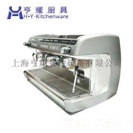 意式双头咖啡机器,半自动的咖啡机器,专业做咖啡的机器,上海双头款咖啡机