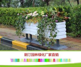 贵州花箱厂家 市政道路隔离景观弧形桶 PVC微发泡可移动户外花箱