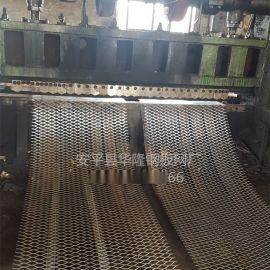 丝网4mm钢板拉伸网,菱形孔24*60mm金属板网