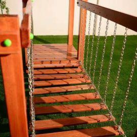 幼儿园炭烧积木 户外积木玩具 幼儿园荡桥