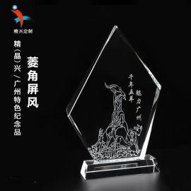 广州**建筑水晶纪念礼品 商务文化旅游纪念品定制