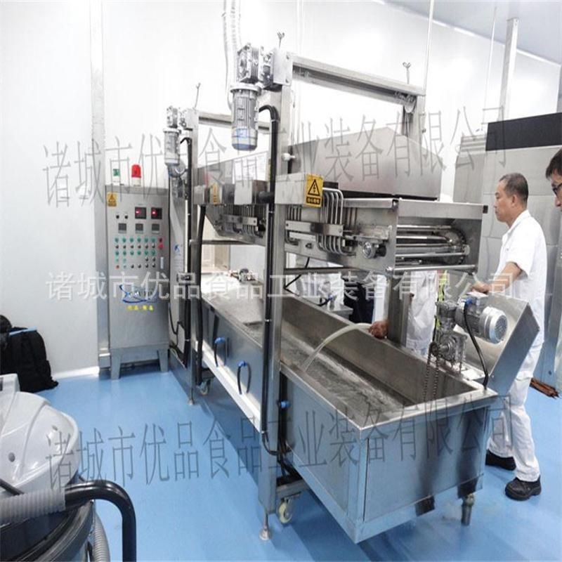 优品连续油炸机 肉制品油炸生产线 小型油炸机