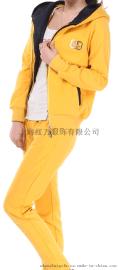 上海红万春秋新款女款韩版休闲套装两件套运动套装特价