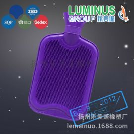 工厂促销 清库存 出口品质2L紫色靓丽热水袋 当天发货