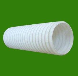 HDPE双壁波纹管 地埋白色塑料   穿线管