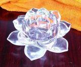 水晶莲花烛台