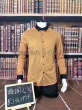 品牌男裝色織條短袖T恤尾貨