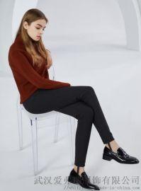 女装折扣走份素言18年冬装新款修身保暖裤
