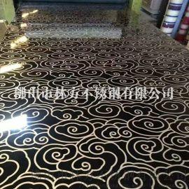 沈阳别墅会所装饰不锈钢材料 双色蚀刻不锈钢板