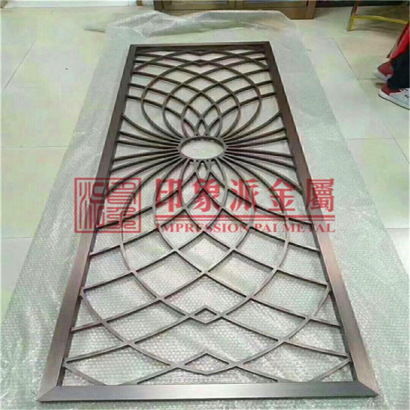304不鏽鋼屏風隔斷 中式佛山廠家來圖定製隔斷花格