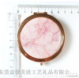 厂家直销金属便携双面折叠化妆镜子定制随身镜生产厂家