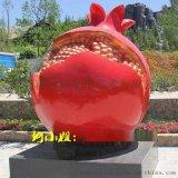 粒粒红宝石象征多子多福仿真玻璃纤维红石榴雕塑摆件