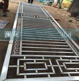 厂家定做室内外木纹转印锌钢护栏阳台古典风格阳台护栏可图纸定制