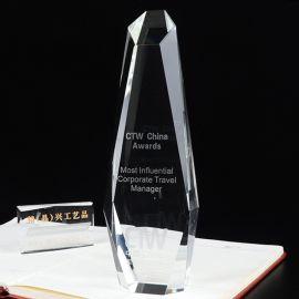 功成名就水晶奖杯 企业年度表彰水晶奖杯定制