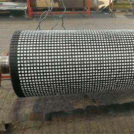 主井1250*1400陶瓷包胶滚筒维修现场修复