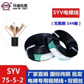 环威厂家批发 电梯视频同轴电缆 SYV-75-5-2 OFC 144编