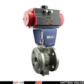 德国VATTENQ41F-16P 气动球阀中德合资上海工厂 气动V型球阀