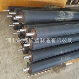 橡胶包胶辊厂家 耐磨橡胶输送辊定制