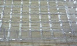 6P环保1000D高强纱出口文件袋专用PVC透明夹网布,透明网格布