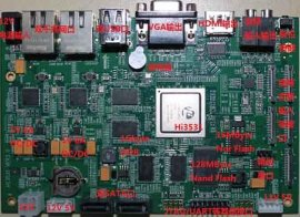 海思 HI3531 开发板 NVR板卡 4路1080P解码板