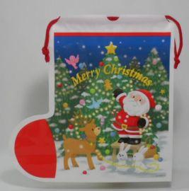 圣诞礼品袋异形袋穿绳袋广东