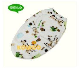 清柔单层印花法莱绒新生儿襁褓 睡袋 防踢袋 包毯 家庭