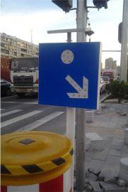路口安装LED安全标志牌醒目又漂亮