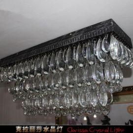 美式水晶欧式现代简约复古灯饰地中海客厅餐厅书房卧室l吸顶灯