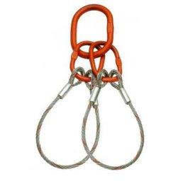 双腿压制钢丝绳索具