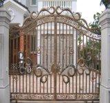 別墅庭院大門安裝   90度平開鐵藝門安裝