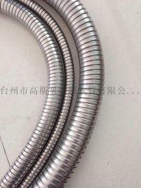 304不锈钢双扣软管 高斯贝穿线软管 可电镀不锈钢波纹管 金属软管
