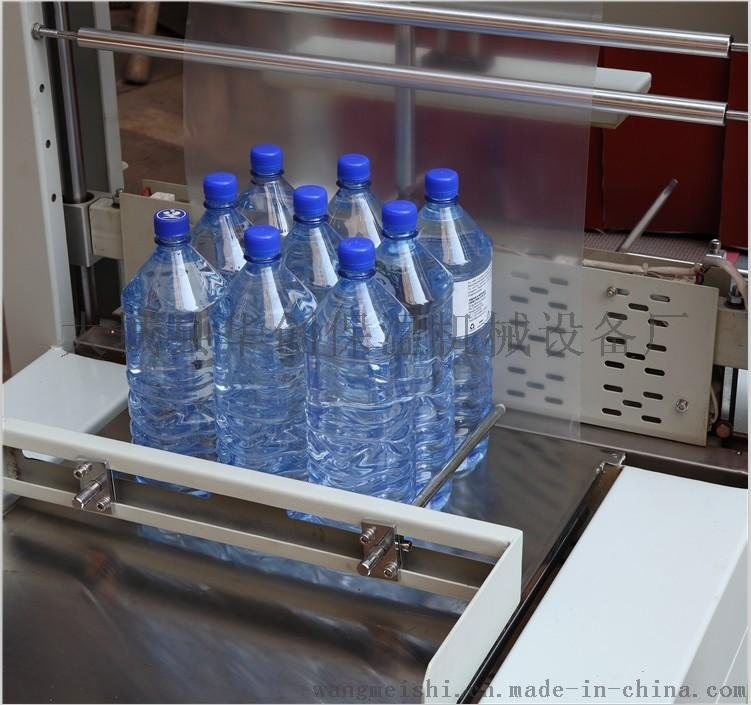 PE膜矿泉水热收缩包装机 全自动套膜24瓶易拉罐啤酒饮料膜包机
