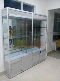 泉州精品货架玻璃展柜钛合金展架