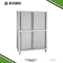 四门不锈钢储物柜 放餐具的柜子 餐厅放碗筷的柜子 厨房四门置物柜