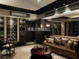 黑钛不锈钢别墅红酒柜 专业加工不锈钢红酒架
