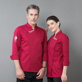 春秋厨师工作服长袖男女通用酒店餐饮厨房厨师服