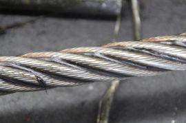 锻打钢丝绳6K31WS+IWR-19.5mm 钢芯 扁丝 打桩钢丝绳