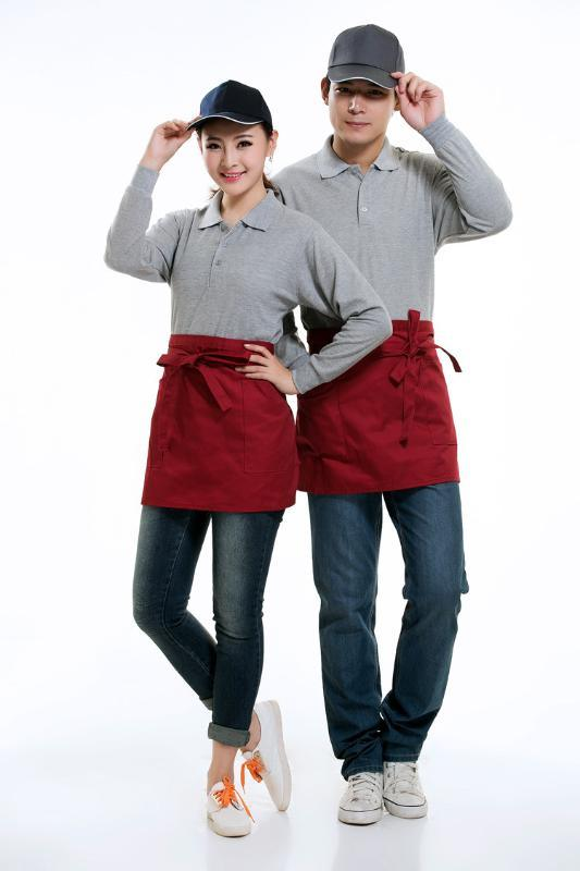 春季工作服现货饭店西餐奶茶店肯德基连锁快餐店服务员长袖T恤衫