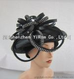 YRSM14110布条帽,贝蕾帽satin ribbon hat, beret hat, church hat