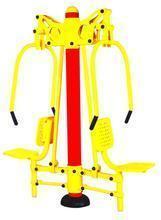 广场健身器材 广场健身器材名称 双人坐推