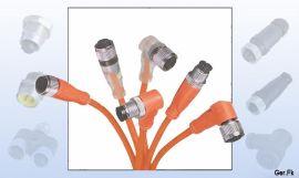 M12传感器连接器,编码器接头,传感器连接线,NPN连接线