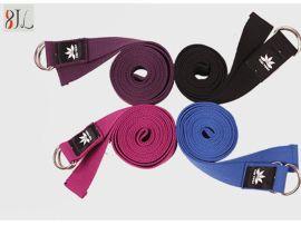 健身拉筋加长伸展带纯棉瑜伽绳拉伸跳操瑜珈愈加辅助用品拉力带子