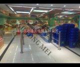 山東超市自動擺閘-天津立柱感應門-北京商場單向旋轉門